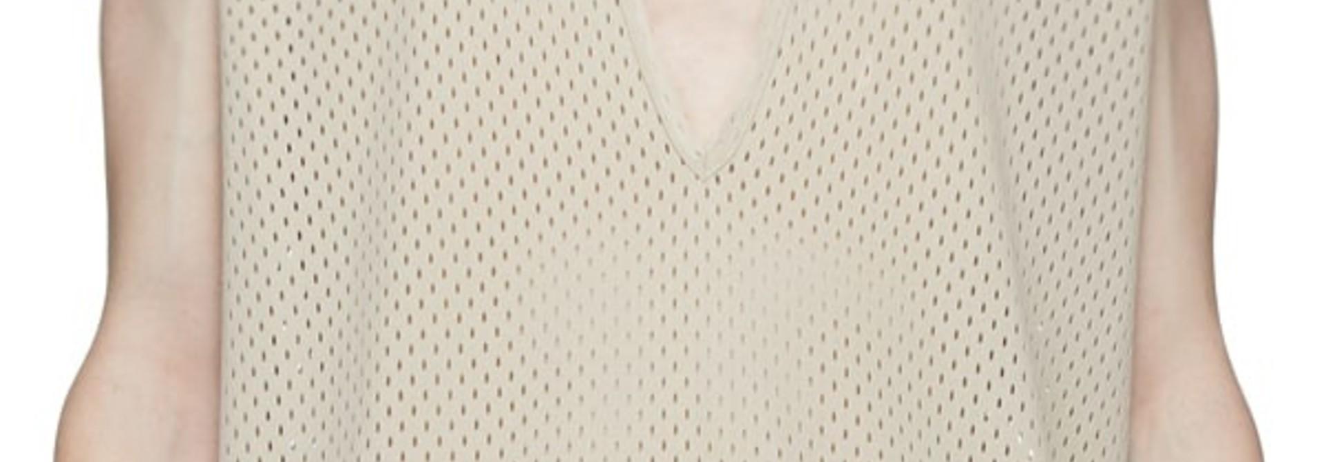 T-shirt - Mesh - Long - Pearl - XS