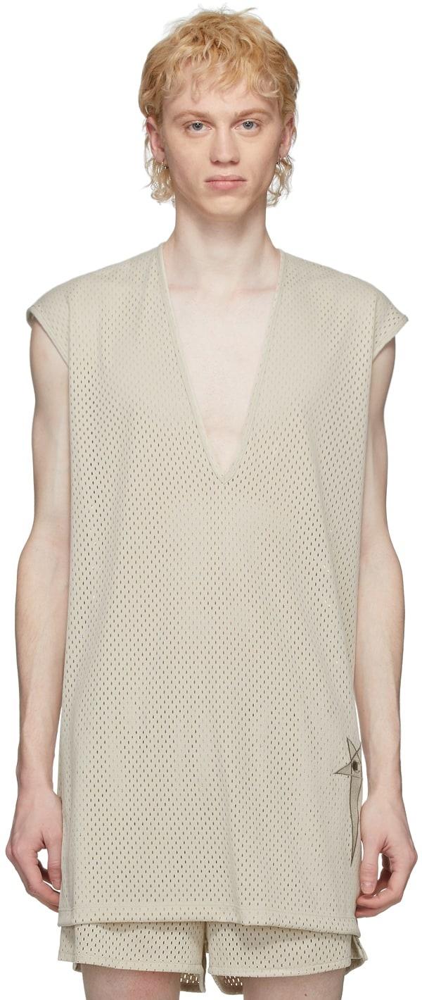 T-shirt - Mesh - Long - Pearl - XS-1
