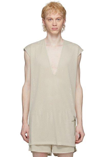 T-shirt - Mesh - Long - Pearl - S