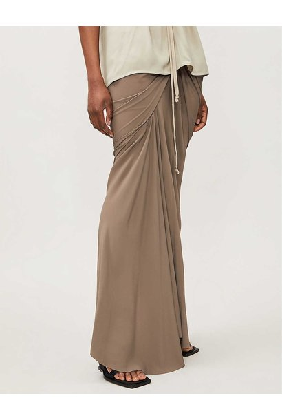 Maxi Skirt - Ruched - Dust - Sz 46
