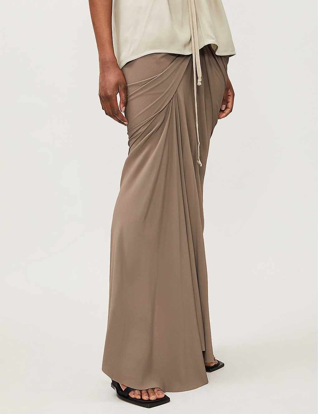 Maxi Skirt - Ruched - Dust - Sz 46-1