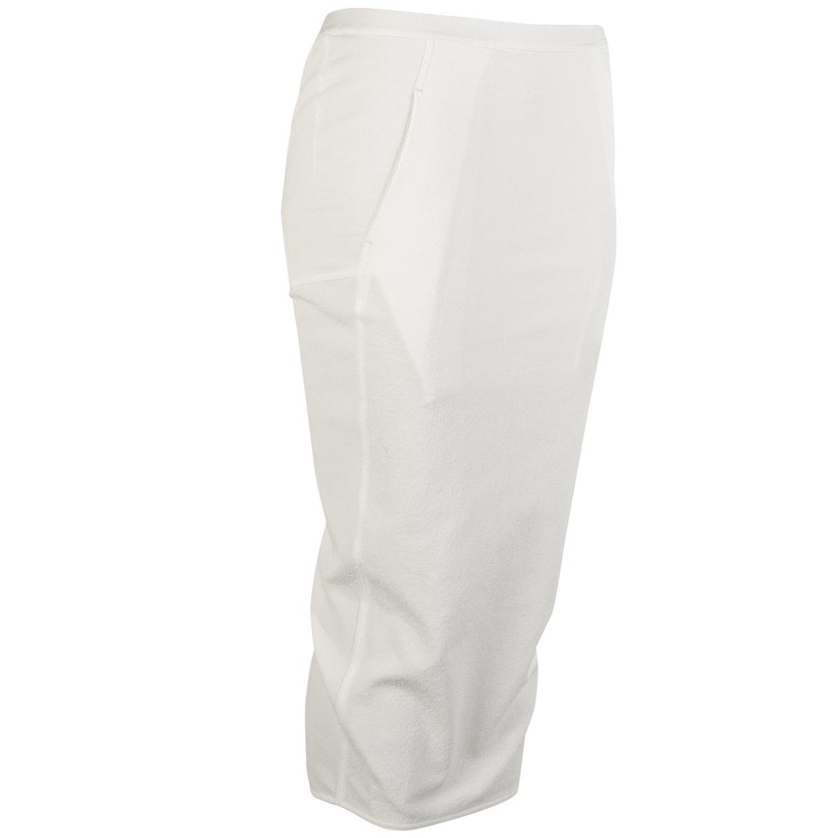 Back Split Skirt - Chalk White - Sz 42-1