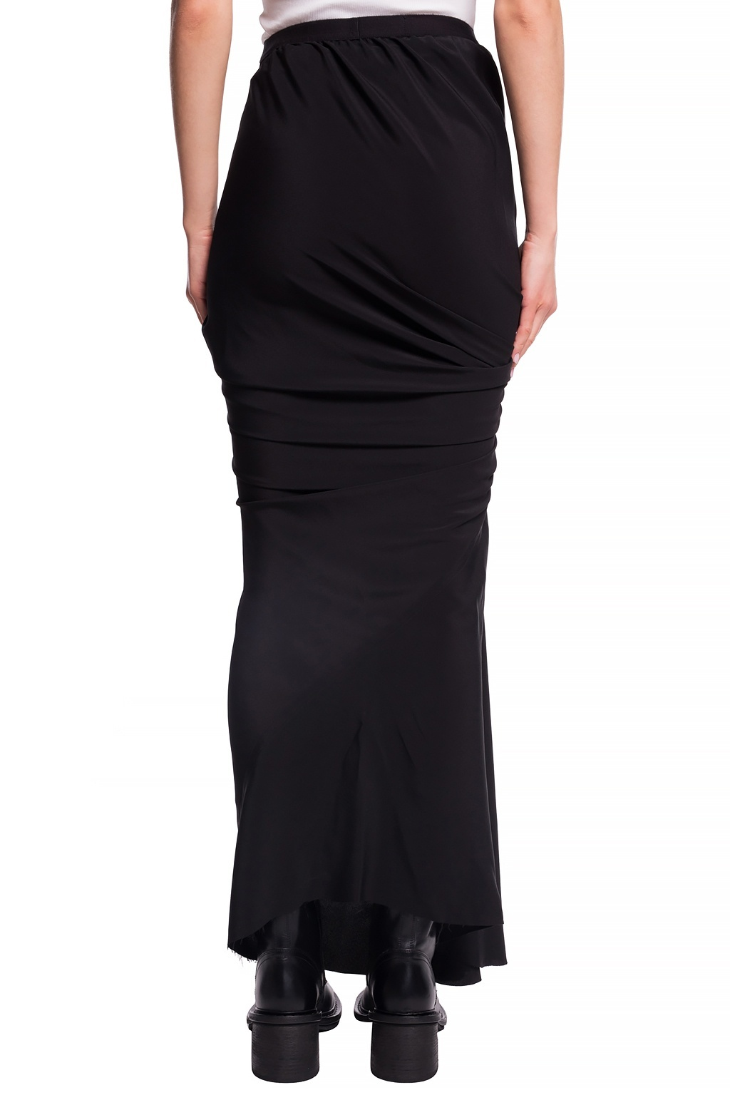 Skirt - Ruched - Black - Sz 40-2