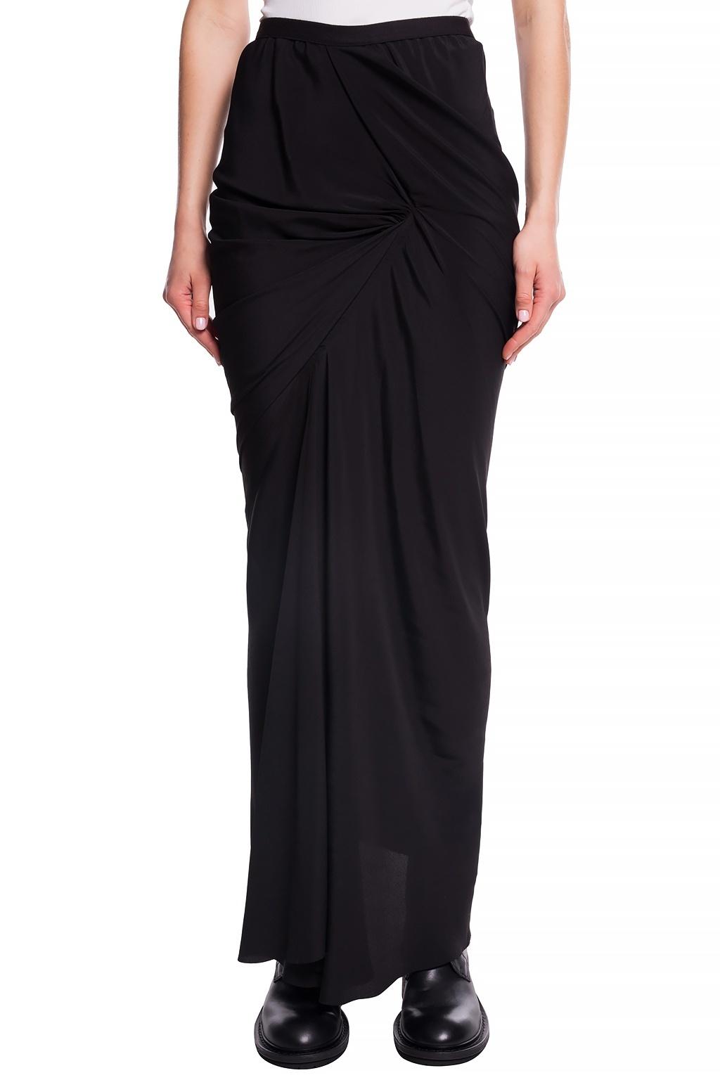 Skirt - Ruched - Black - Sz 40-1