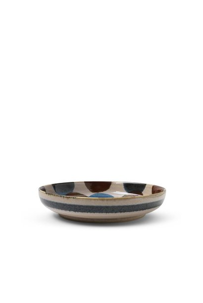 Rustic Dots - Shallow Bowl