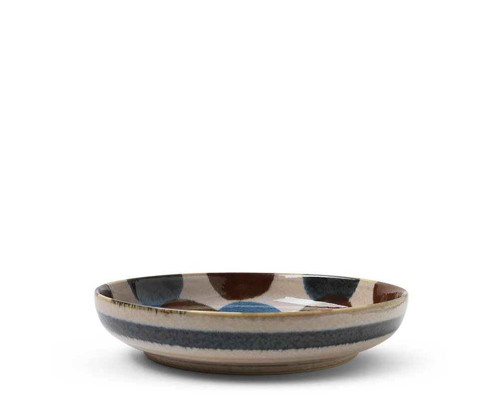 Rustic Dots - Shallow Bowl-1