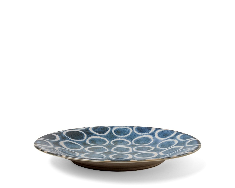Rustic White Circles -  Plate-2