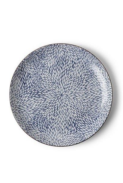Aizome Mums -  Dinner Plate