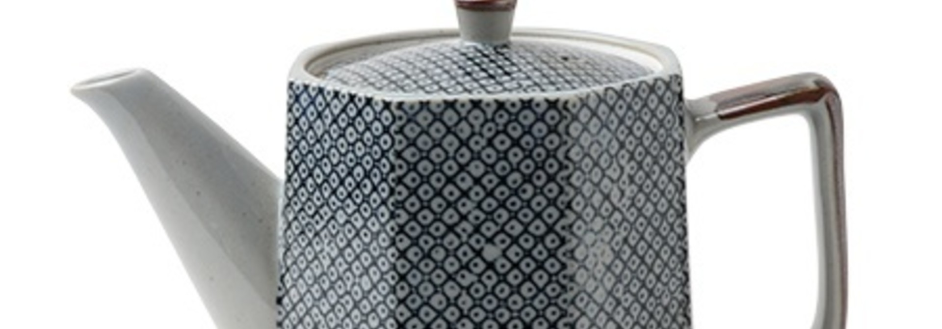 Blue Vintage Dots  - Tea Pot