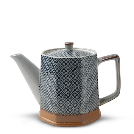 Blue Vintage Dots  - Tea Pot-1