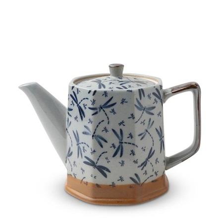 Blue Vintage Dragonflies - Tea Pot-1