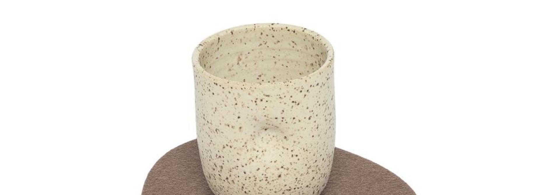 Felt Trivet Stone Small - Cumin
