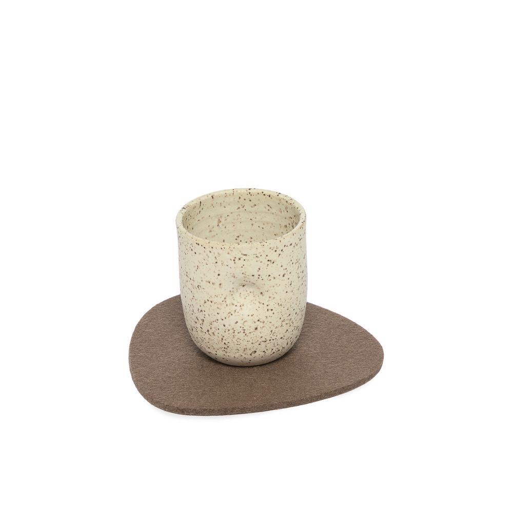Felt Trivet Stone Small - Cumin-1