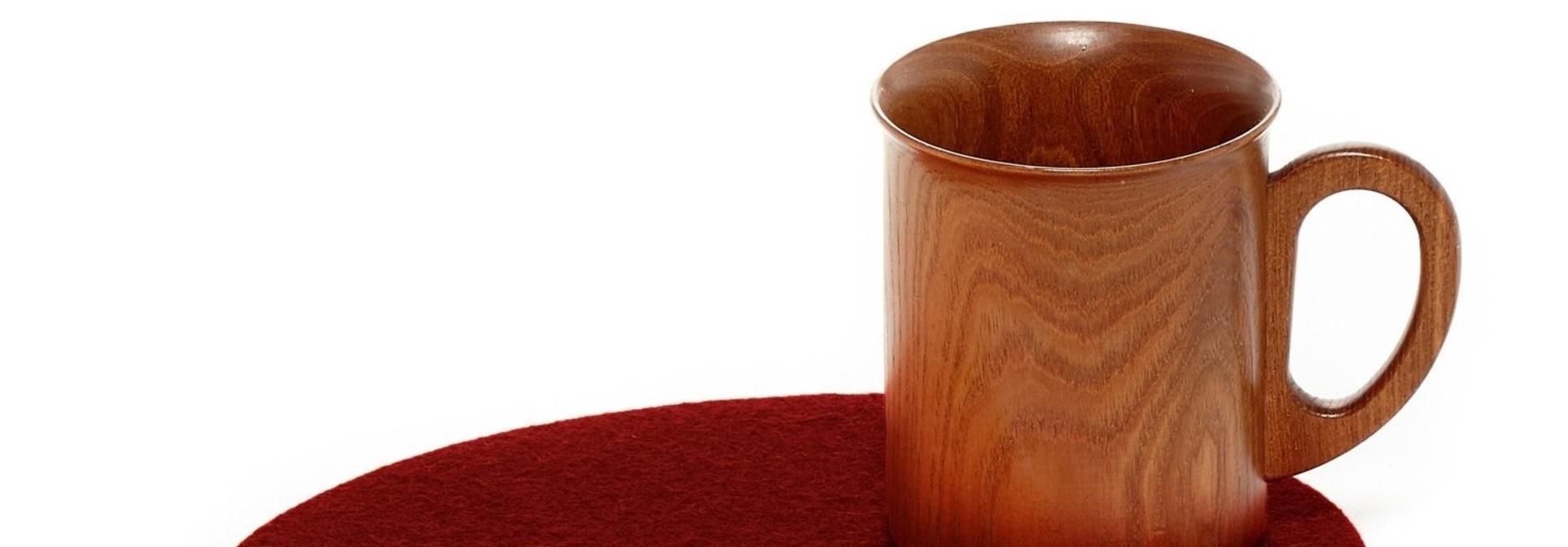 Felt Trivet Stone Medium - Rosewood