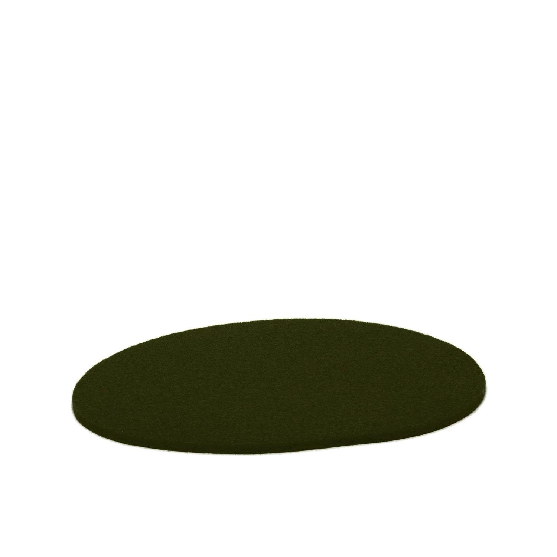 Felt Trivet Stone Medium - Moss-1