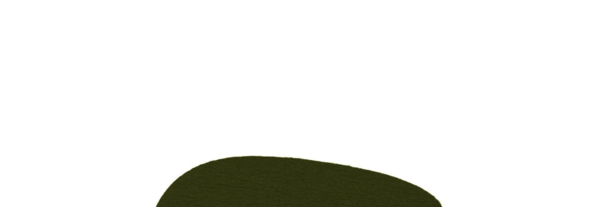 Felt Trivet Stone Small - Moss