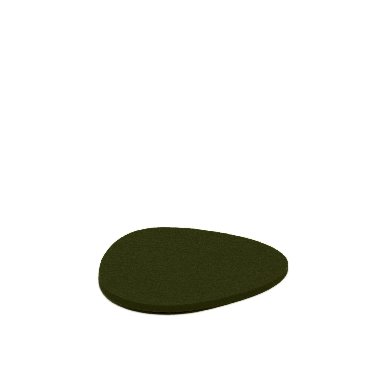 Felt Trivet Stone Small - Moss-1