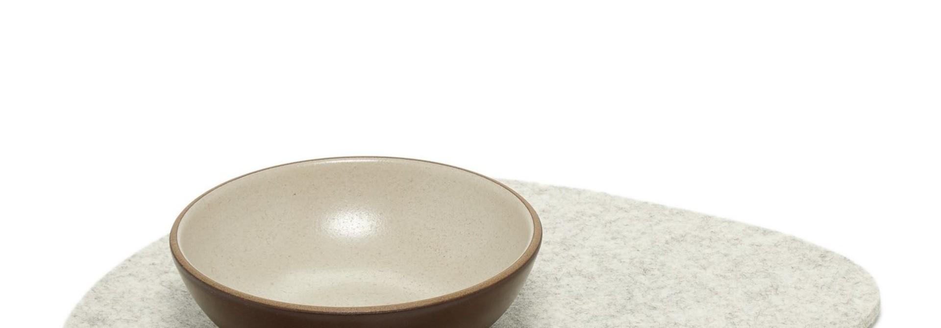 Felt Trivet Stone Large - Heather White