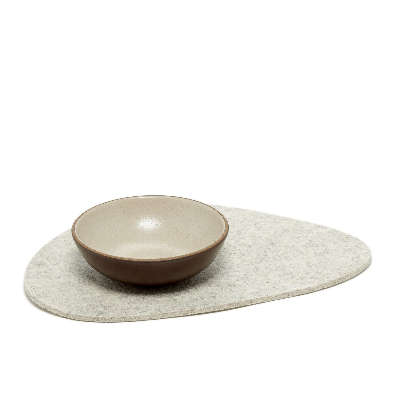 Felt Trivet Stone Large - Heather White-1