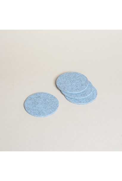 "Felt Trivet Round 10"" - Heather Blue"