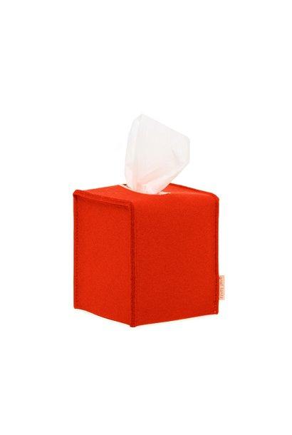 Felt Tissue Sq Box Small - Orange