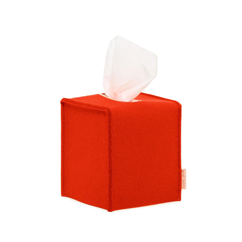 Felt Tissue Sq Box Small - Orange-1