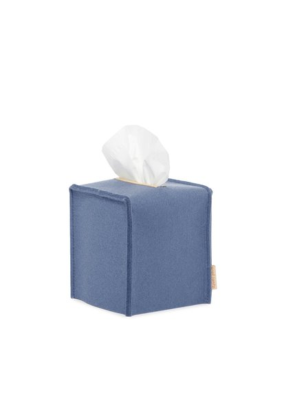 Felt Tissue Sq Box Small - Blue