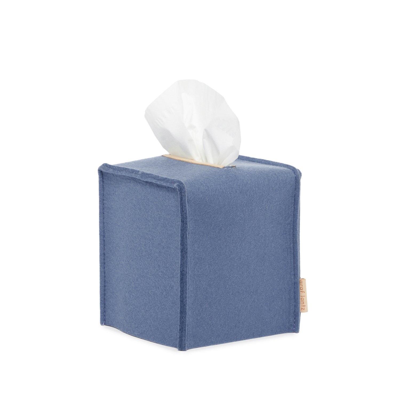 Felt Tissue Sq Box Small - Blue-1