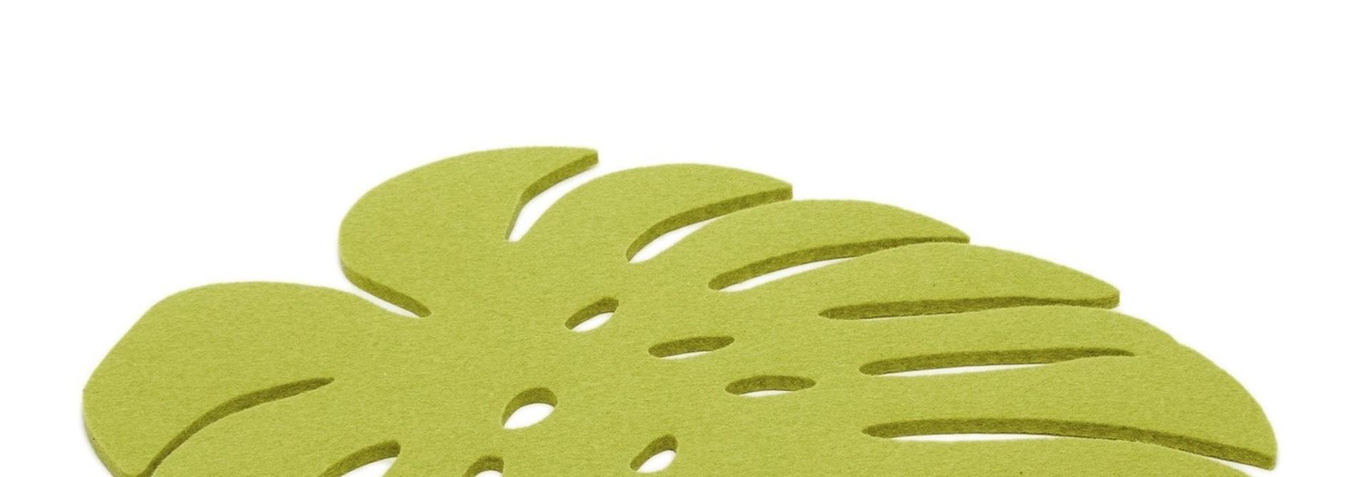 Felt Trivet Monstera - Pistachio - Lge
