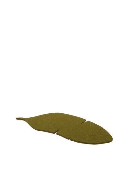 Felt Trivet Banana Leaf - Moss