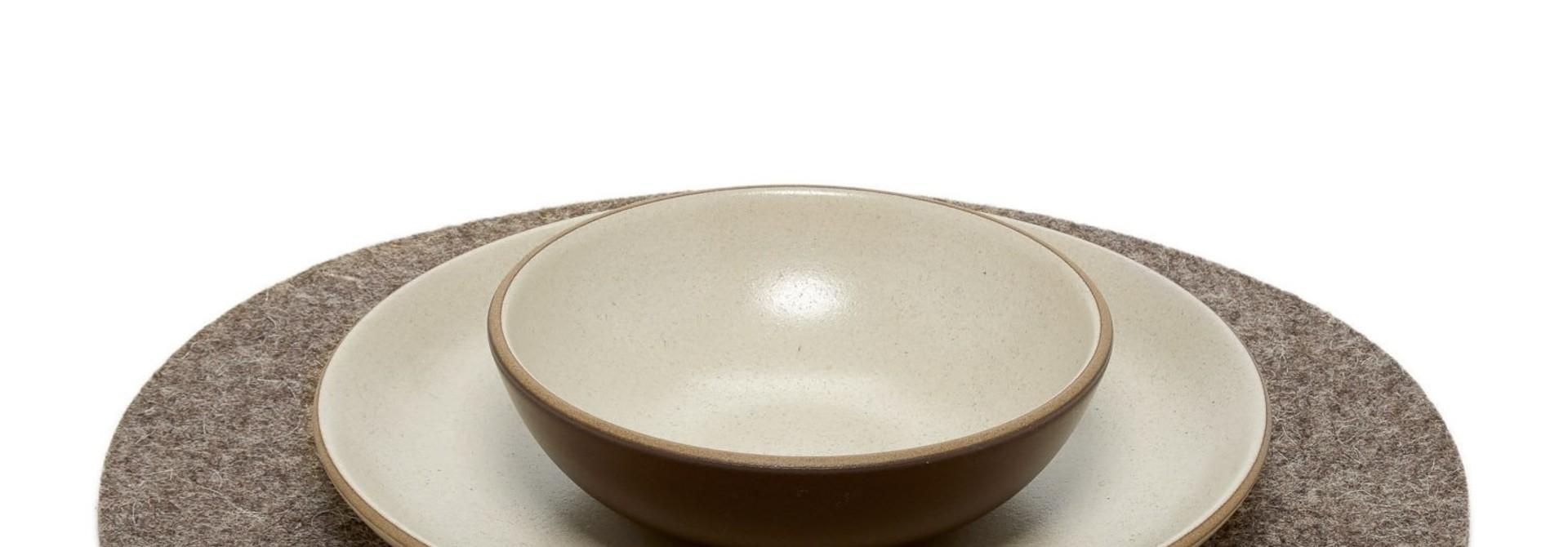 Felt Placemat - Round - Ash Brown