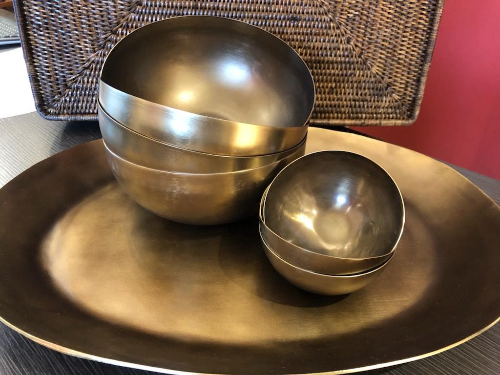 Cobbled Antique Bronze Bowl, Medium-3