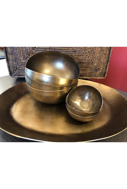 Cobbled Antique Bronze Platter