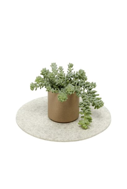 Felt Trivet Round - Heather White
