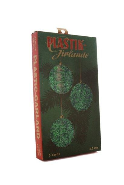 Garland - tinsel - Green