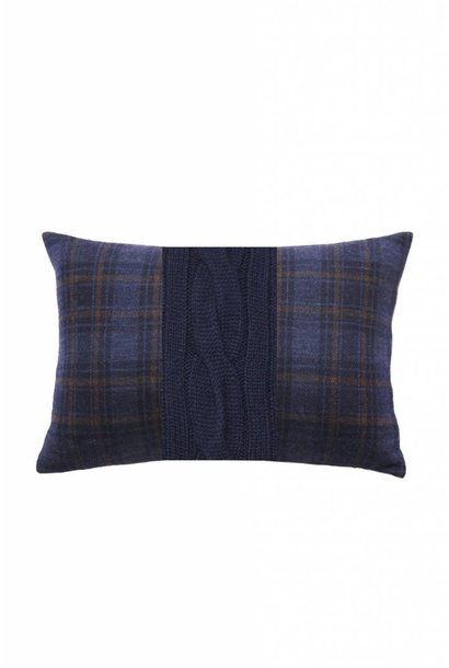 Claridges Cushion - Rectangle - Navy