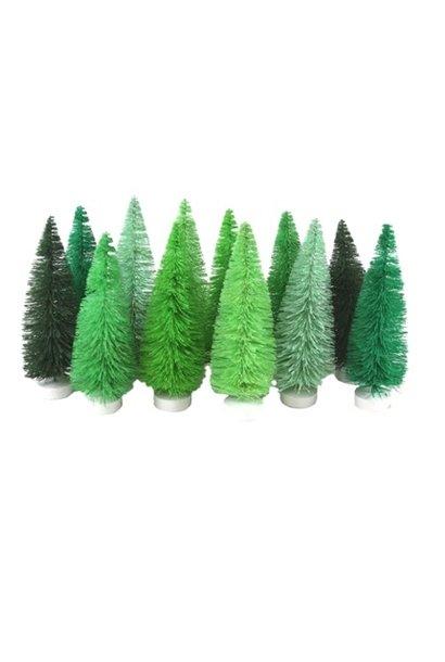 HUE TREES - GREEN - SET OF 12