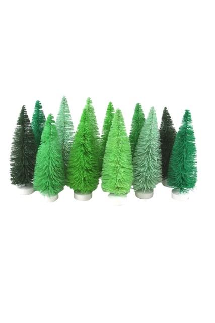 HUE TREES - GREEN - SET OF 12-1