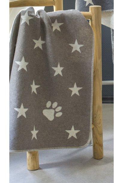 Blanket - Stars/Paw Print - Smoke