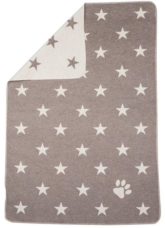 Blanket - Stars/Paw Print - Smoke-2