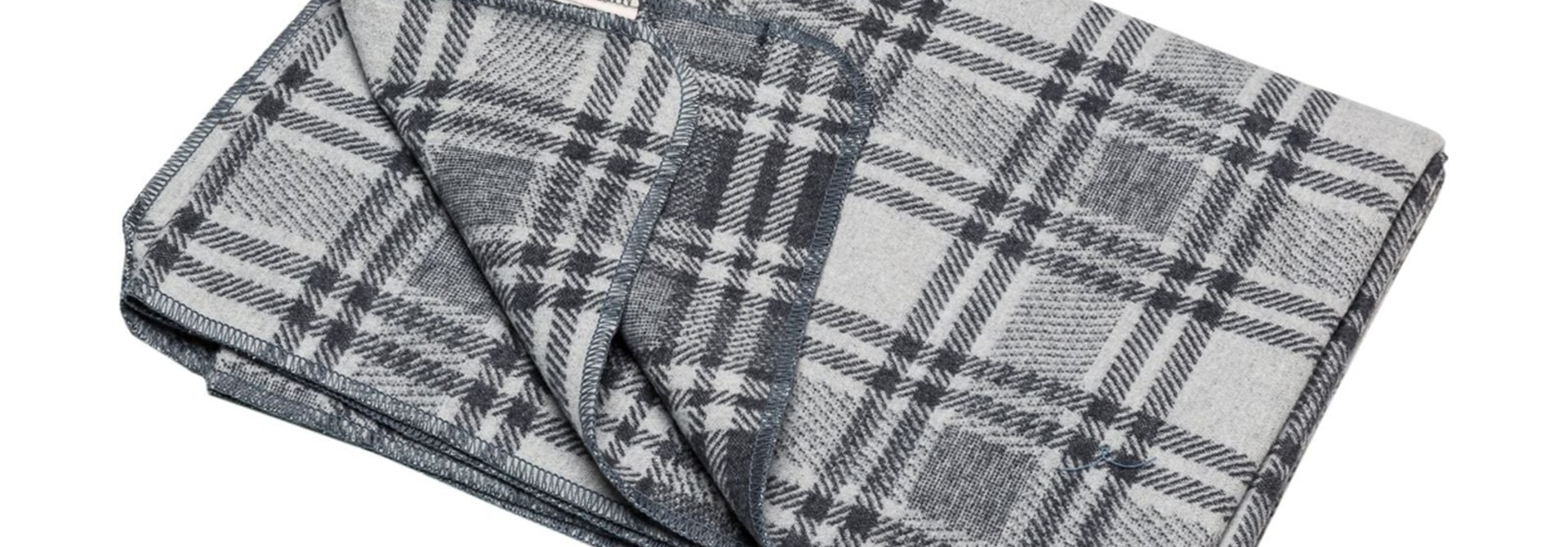 Blanket - Checkered - Charcoal
