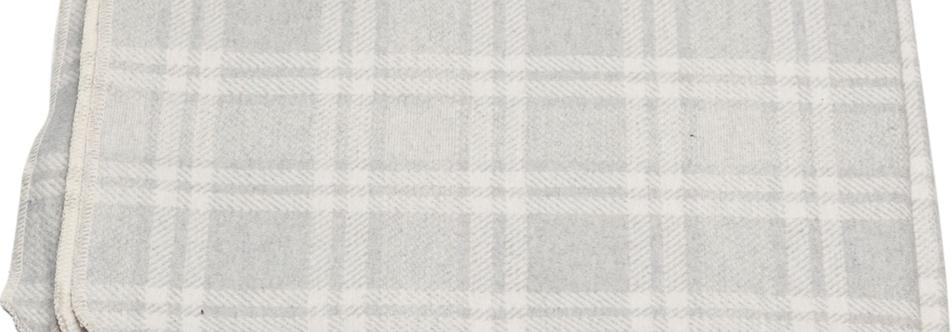 Blanket - Checkered - Light Grey