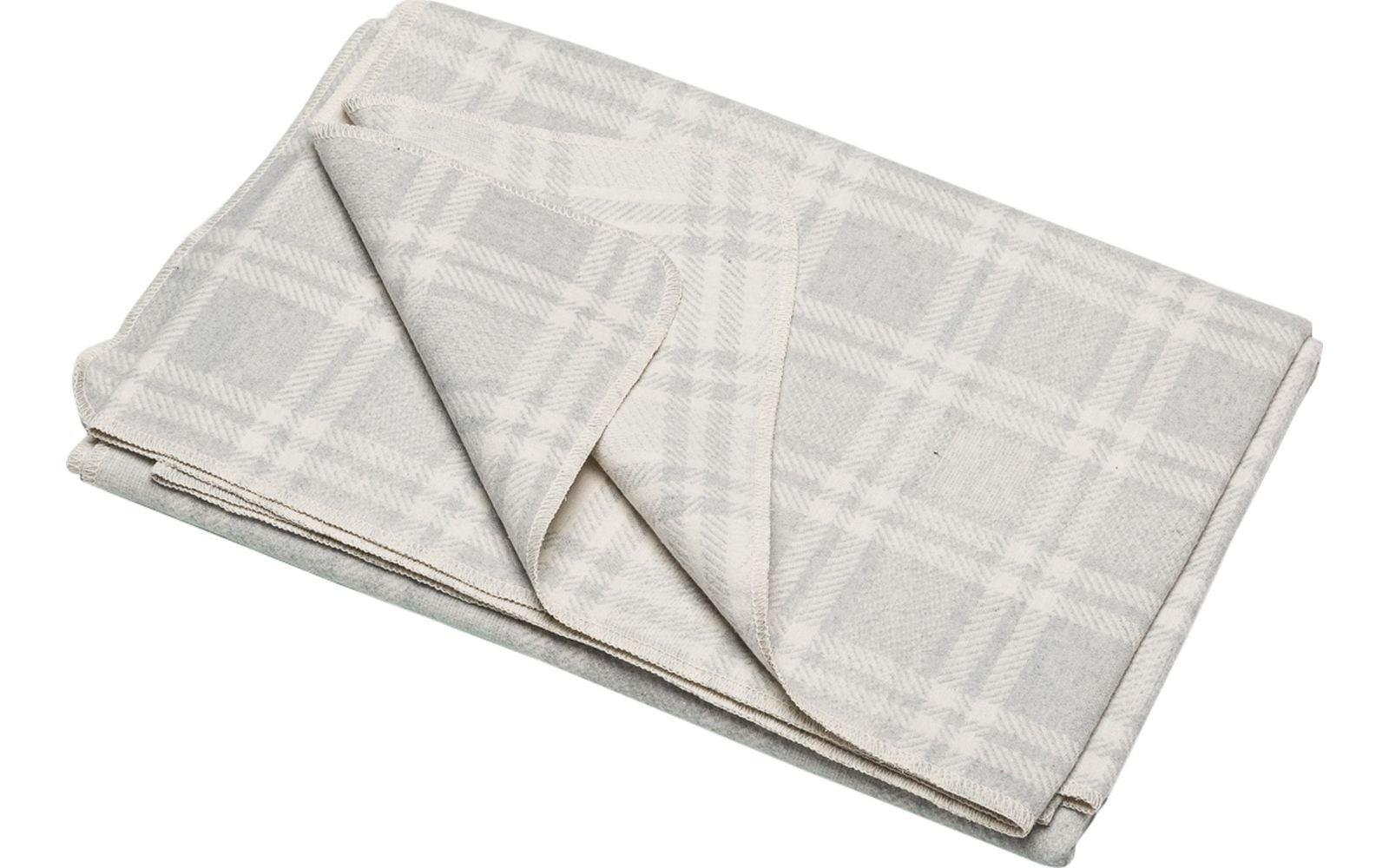 Blanket - Checkered - Light Grey-2