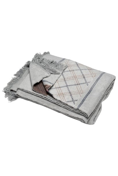 Throw - Vienna - Argyle Grey