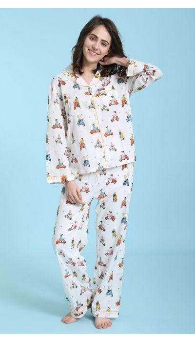Pyjama - Vespa Squad - 2pc. - Small-1