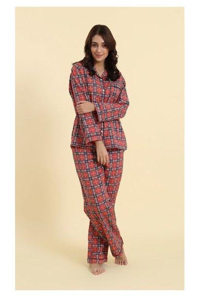 Pyjama - Red Plaid - 2pc. - Large
