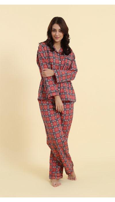 Pyjama - Red Plaid - 2pc. - Large-1