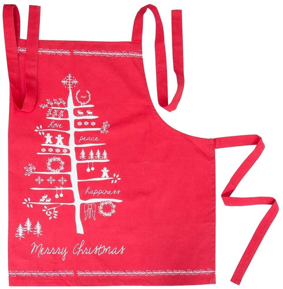 Red Holiday Apron-1