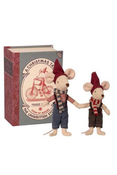 Xmas Book with 2 Mice