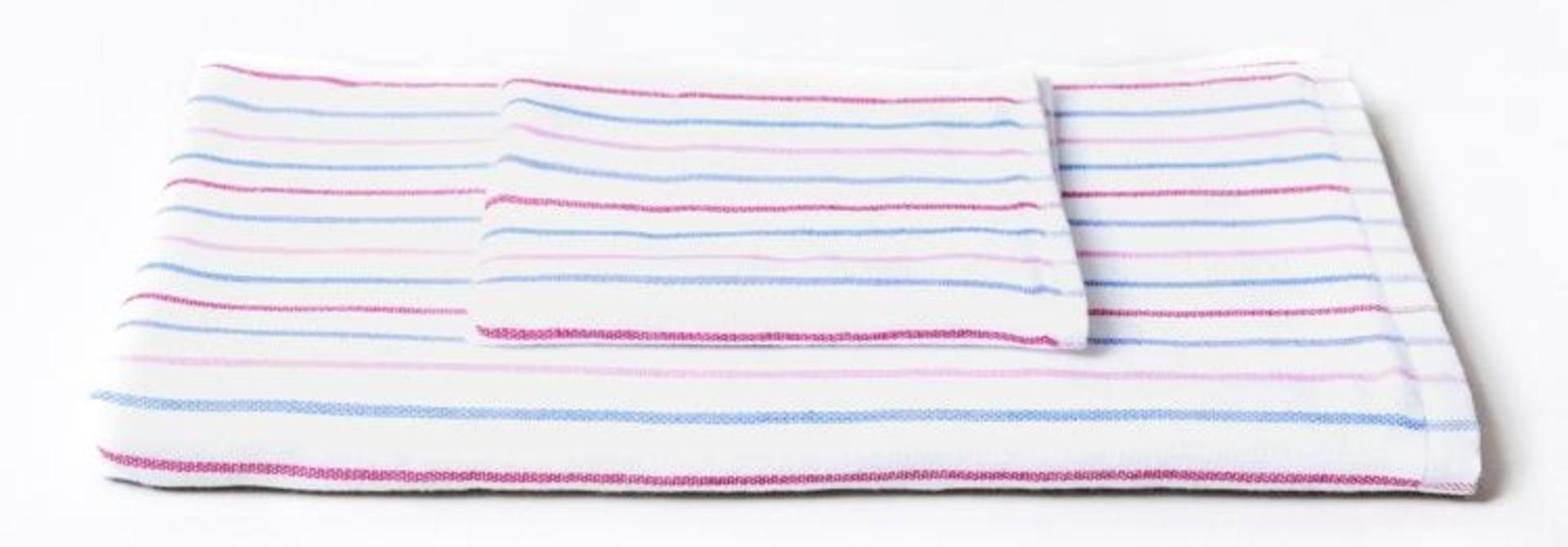 Hand Towel - Stripe - Blu\Pink